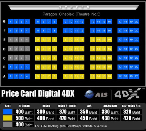 AIS 4DX @ Paragon Cineplex