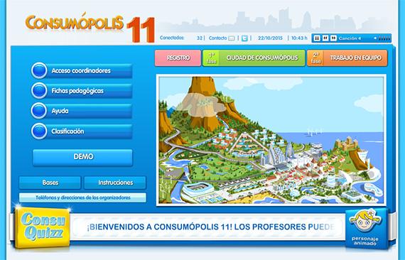 Consumópolis 11, concurso escolar sobre consumo responsable