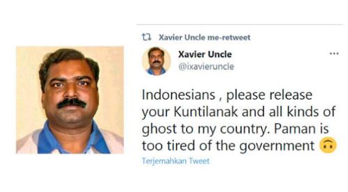 Capek Lihat Penanganan Covid-19 di Negaranya, Pria India Minta Indonesia Keluarkan Setan Kuntilanak