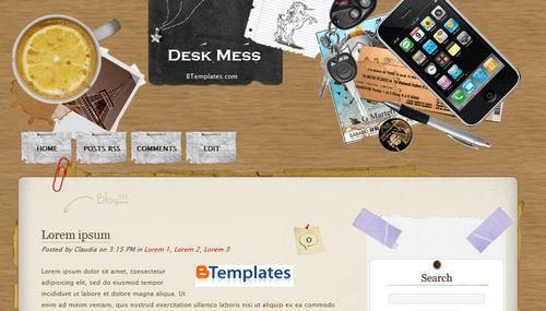Desk Mes template blogger