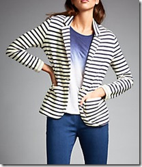 Harris Wilson striped jersey jacket