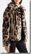 Stand Gilbertine Leopard Print Faux Fur Jacket