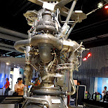 rocket engine at the Miraikan Museum of Emerging Science and Innovation in Odaiba, Tokyo, Japan