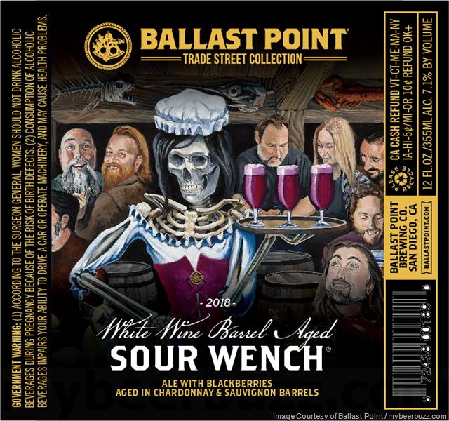 Ballast Point Adding NEW White Wine Barrel-Aged Sour Wench Bottles