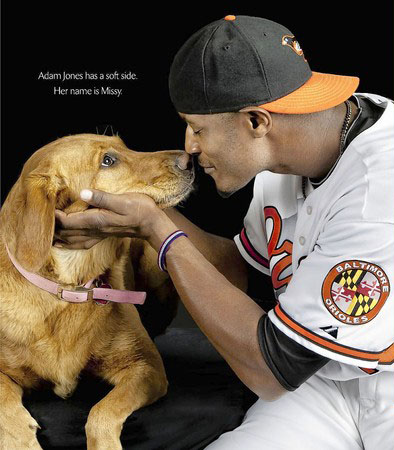 Adam Jones and his dog Missy