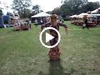 Scarecrow living statue