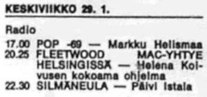 Fleetwood Mac radiossa 29.1.1969