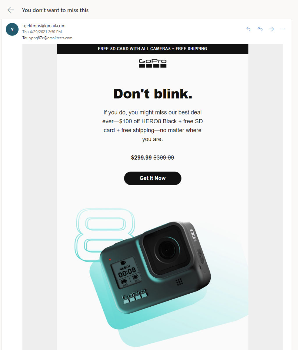 Email Marketing for Shopify: GoPro Example