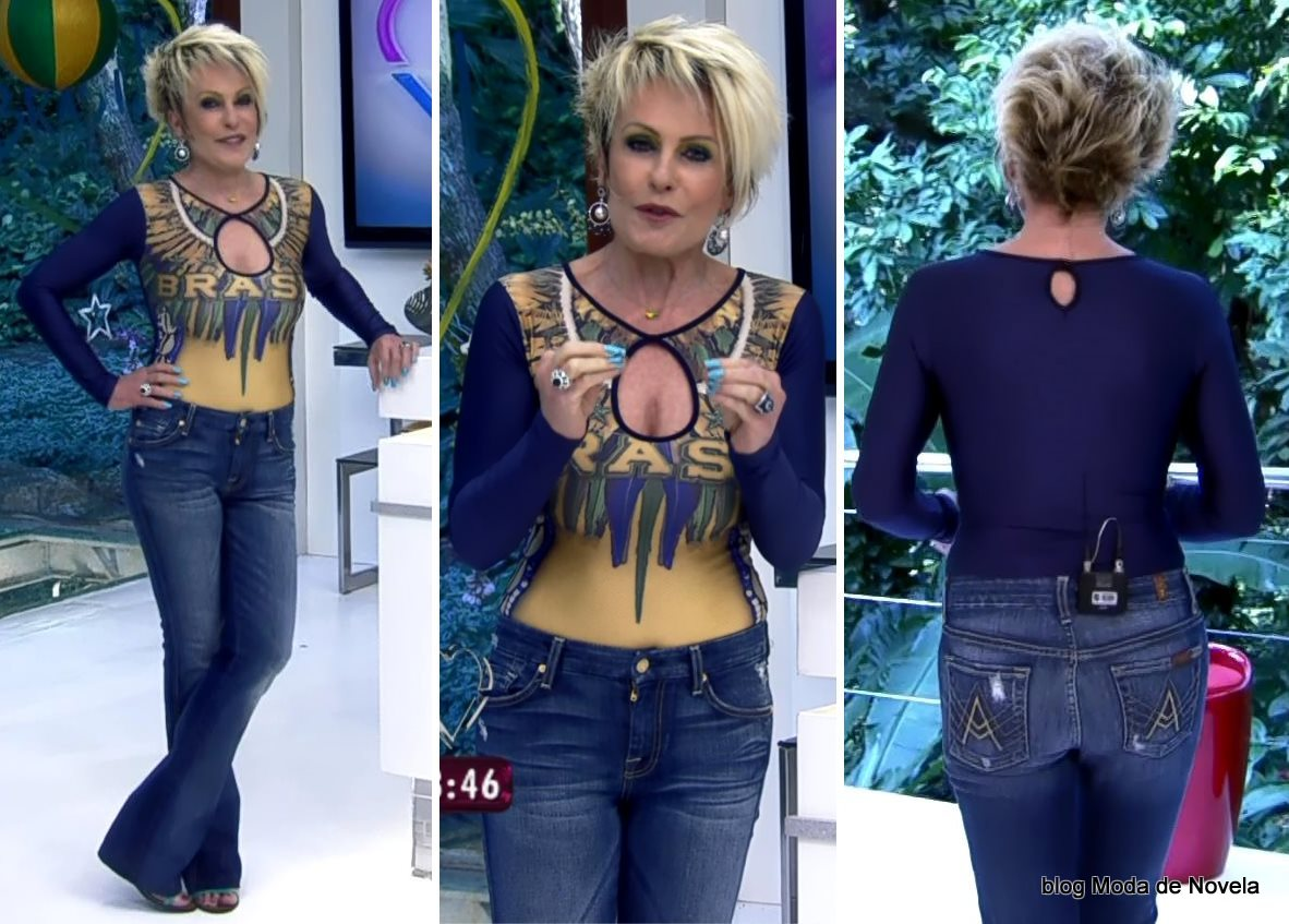 moda do programa Mais Você - look da Ana Maria Braga dia 23 de junho