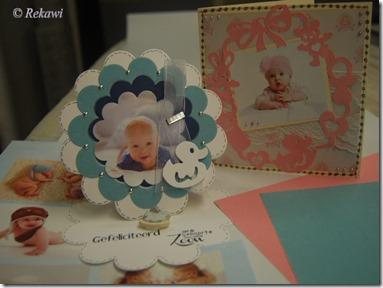 baby kaart fluweel