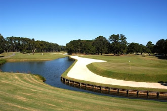 Photo: Same 11th hole, par 5. Second (or more) shot played from behind the water