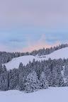 CIEL DE FEU   Les premières neiges de l'hiver 2013-2014, sur le Semnoz ! (74)