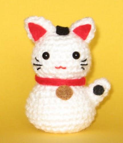 Amigurumi Neko : 2000 Free Amigurumi Patterns: Onni the Beckoning Cat ...