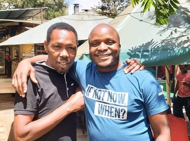 Tahidi High actor Omosh and Jalang'o photo