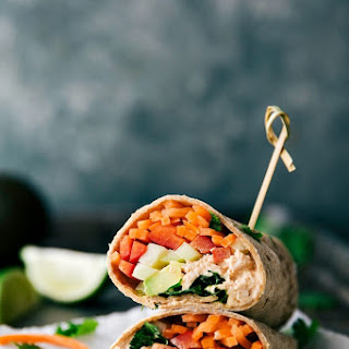 Sriracha Tuna Salad Wraps.