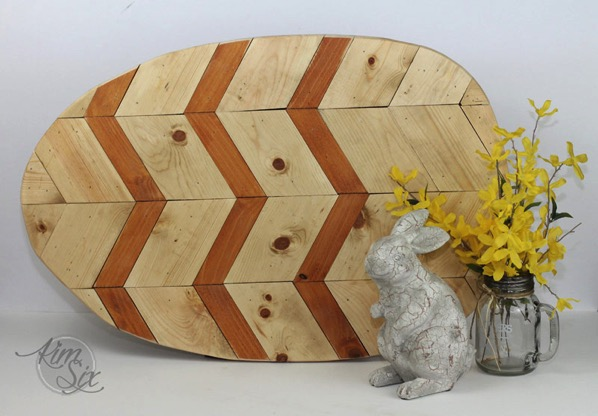 Wooden easter egg wall art