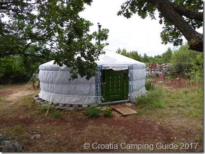 Croatia Camping Guide - Private Yurt c