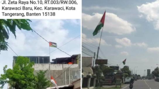Viral, Warga Pasang Bendera Palestina, Netizen: Sales Pengepul Donasi