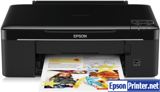How to reset flashing lights for Epson SX130 printer