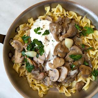 Slow Cooker Mushroom Stroganoff with Egg Noodles