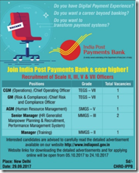 IPPB Bank Vacancy 2017 www.indgovtjobs.in