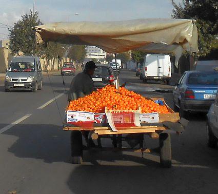 Orangen-Lieferung in Casablanca