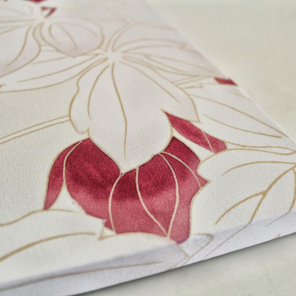 Hand-Painted Kimono Silk Panel - Odamaki (off-white)