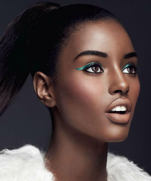 BEAUTIFUL GLOSSY EYE SHADOW LOOK FOR SOUTH AFRICAN WOMEN 6