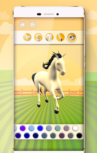 Horse Coloring Book 3D image   5