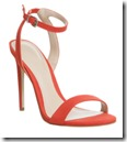 Office Red Nubuck Single Sole Sandals
