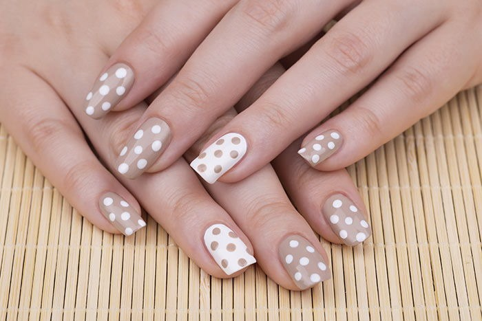 Dotted Manicure Nail Art Design