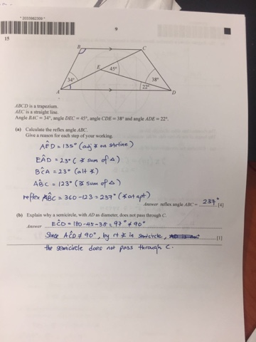 Mr Ong's Exam Revision: O level e maths 2016 paper 1 answers