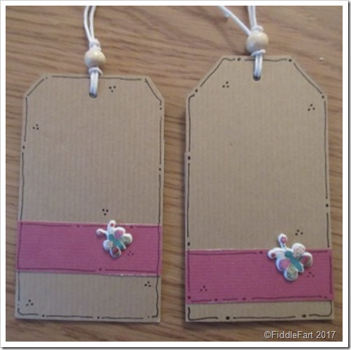 Reverse of Gingham Jar Tags
