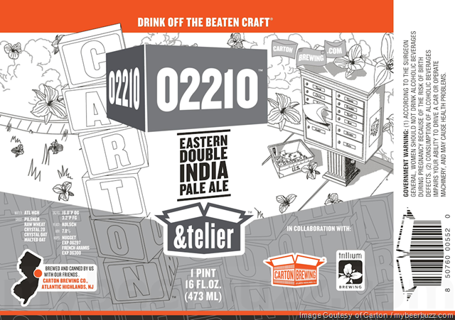Carton Brewing & Trillium Collaborate On 02210 Eastern DIPA