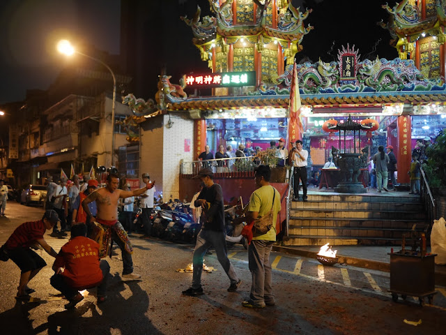 ceremony at the Chang Qing Temple (長慶廟) in Taipei