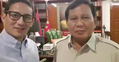 Ini Dia Pesan PrabowoSandi Menjelang 7 Hari Penetapan KPU