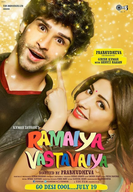 Poster Of Hindi Movie Ramaiya Vastavaiya (2013) Free Download Full New Hindi Movie Watch Online At Alldownloads4u.Com