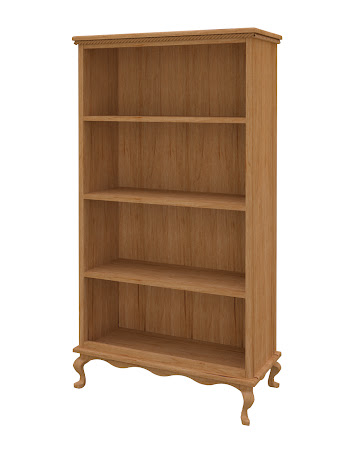 Queen Anne Standard Bookshelf in Calhoun Maple