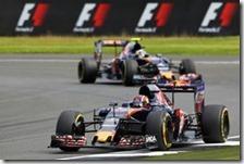 Le due Toro Rosso nelle prove libere del gran premio di Gran Bretagna 2016