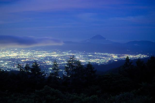 甘利山の夜景 EOS-1D Mark II