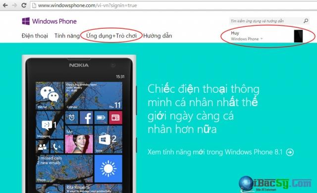 cài ứng dụng windows phone