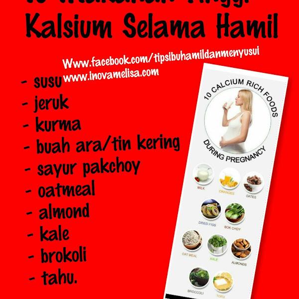 Makanan Alami Sumber Kalsium Saat Hamil