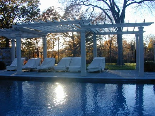 Autumn at the pool pergola.