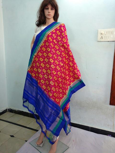 Pochampally  silk Dhuppatas , uppada.om@gmail.com