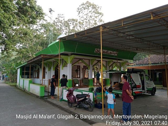 Kegiatan bersih masjid di masjid Al Ma'arif, Glagah 2, Banjarnegoro, Mertoyudan Magelang