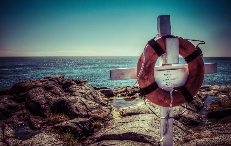 a memorial to someone who was lost at sea