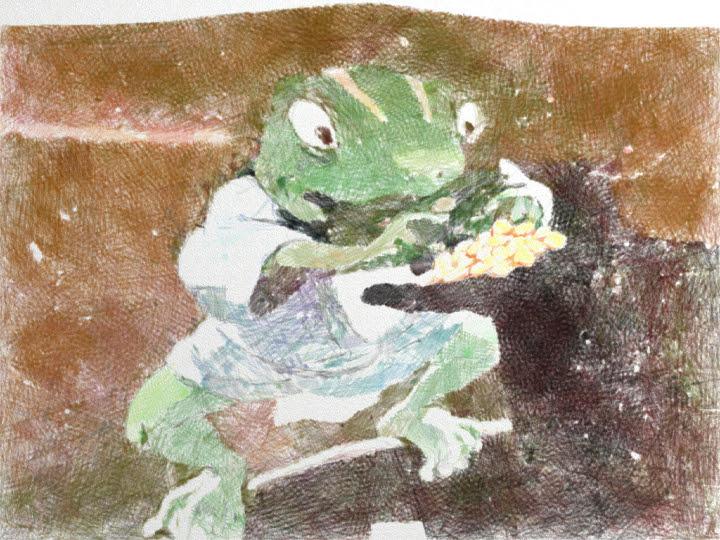 千と千尋の神隠しの青蛙「わしにもくれー!」
