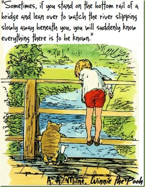 lean forward and watch the river pooh