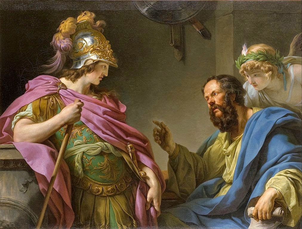 François-André Vincent - Alcibades being taught by Socrates