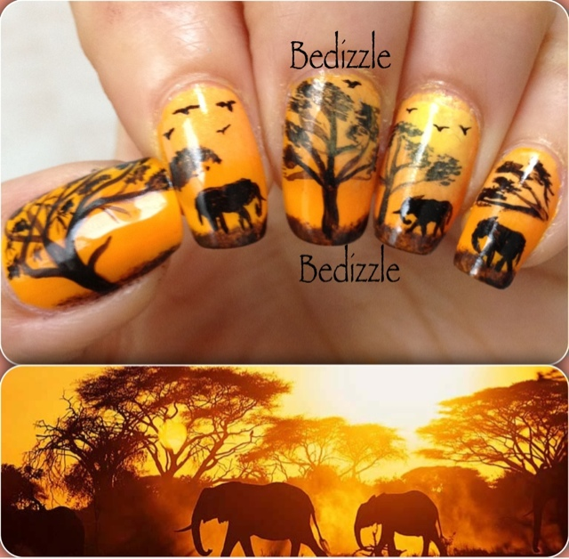 African Nail Art: Your Own Nail Art